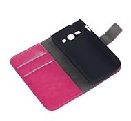 PU-Leder Ganzkörper-Flip Open-Fall-Abdeckung mit Kartensteckplätze für Samsung Galaxy Ace S7272 3 mit Kartenhalter