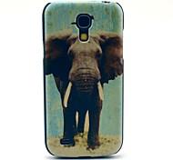 Grey Elephant Pattern Hard Back Cover Case for Samsung Galaxy S4 Mini I9190