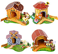 3D Puzzle Mini Pet House Toy for Kids(Random Color)