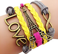 Anitque Brass Eiffel Tower Bracelet