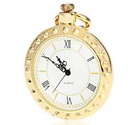 Unisexe alliage d'or blanc de quartz de cadran de montre de poche