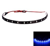 Merdia 2.5W 40lm 15x3528SMD LED blu decorazione Car Lights-30cm (12V / 1 PCS)