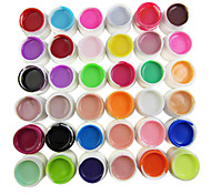 36-Color Pure Colors 8ml Nail Art UV Builder Gel for Manicure Nails Tips