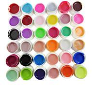 36-Color Reine Farben 8ml Nail Art UV Builder Gel für Maniküre Nails Tipps