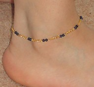 Shixin® Vintage Handmade Alloy Golden Anklet(Blue,Dark-blue,Black,Pink)(1 Pc)