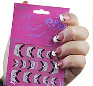 3D strass Dentelle française Nail Art Stickers XF NO.802