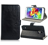Faux Leather Flip Case for Samsung Galaxy S5 I9600 (Assorted Colors)