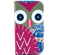 Deer and Owl Pattern PU Leather Full Body Case with Stand and Card Holder for HTC Desire 500