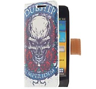 Rose and Skull Style Leather Case with Card Slot and Stand for Samsung Galaxy S Advance i9070