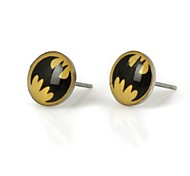 Women's Batman Pattern Metallic Earring 1pair