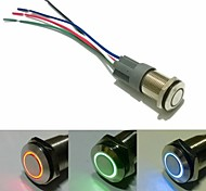 16mm  latching push button switch DC 12V Angel Eye With the Socket