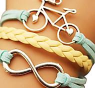 shixin® european Bike 18cm Frauen mehrfarbige Leder Wickelarmband (1 PC)