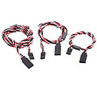 30cm 60 cm 90 cm 60 Core Anti-interferencias del cable RC Servo Extension con el anillo magnético para JR / Futaba