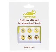 yuanbotong qwxi-02 séries sapo botão home etiqueta para iphone 6 iphone 6 plus / ipad / ipod / itouch- (6pcs)