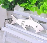 Like Cool Sharks Stainless Steel Bottle Opener Key Chain