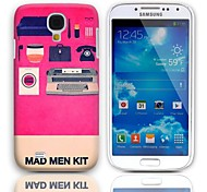Mad Man Kit Pattern Hard Case with 3-Pack Screen Protectors for Samsung Galaxy S4 mini I9190