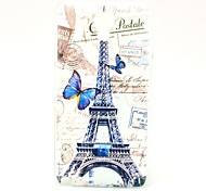 Butterfly and Eiffel Tower Pattern Hard Back Case Cover for Samsung Galaxy Note 3 Lite
