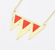 Exaggerated Wave Triangle Drip Sweater Chain Pendant Necklace(3 Colors)