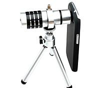 LX 12X Lente Micro Telescopio con el soporte y la cubierta del caso para Samsung Galaxy S3 I9300