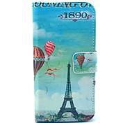 Balão Torre Eiffel Padrão PU de couro com tampa do suporte Case for Sony Xperia Z1 Mini Compact D5503