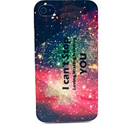 I Can't Stop Loving Missing Needing You Star Pattern TPU Soft Case for  iPhone 4/4S