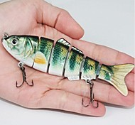 Venda quente 25g 12,2 centímetros rígido iscas de plástico 6 Segmentos Minnow iscas de pesca (2pcs)