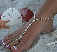 Shixin® Vintage Handmade Pearl Fashion Barefoot Sandal(1 Pc)