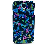 Colorful Triangle Paper Puzzle Pattern Plastic Protective Back Cover for Samsung Galaxy S4 I9500