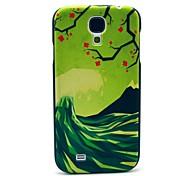 La Ola y flores patrón protector plástico de la contraportada para Samsung Galaxy S4 i9500