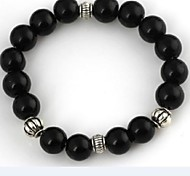 Women's Black Agate And Crystal Bracelet