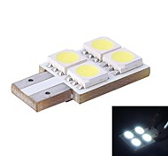T10 / W5W 0.8W 80LM 4x5050 SMD White LED for Car Reading/License Plate/Door Lamp (DC12V, 1Pcs)