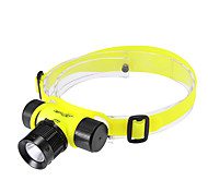 Beleuchtung Stirnlampen / Taucherleuchten LED 200 Lumen 3 Modus Cree XR-E Q5 18650 einstellbarer Fokus / WiederaufladbarTauchen /