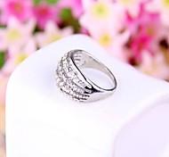 (1 PC) Diamante Unisex Europea Anillos Picture (Golden Silver)