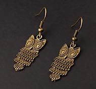 Cute Owl Copper Earrings(1 Pair)