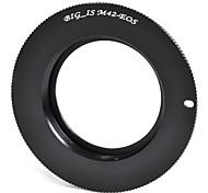 BIG_IS M42 Tornillo de Montaje de la lente Canon EOS Anillo Adaptador Cuerpo - Negro