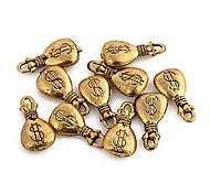 Encantos del monedero lindo de la aleación de oro de 10 PC / Bolsa
