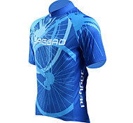 JAGGAD® Cycling Jersey Men's Short Sleeve Bike Breathable / Quick Dry Jersey / Tops Polyester / Elastane Stripe Summer Cycling/Bike