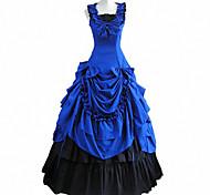 Señora agraciada floorlength algodón sin mangas victoriano vestido lolita gótica