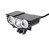 Lâmpadas Frontais 4.0 Modo 3800 Lumens Prova-de-Água / Recarregável Cree XM-L2 U2 Baterias C Multifunções Liga de Aluminio
