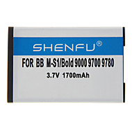 Shenfu 1700mAh batterie portable pour BlackBerry 9000 9700 9780 M-S1/Bold