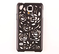 Hollow Out Design And Graphics Rose PC Hard Case for Samsung Galaxy S5 I9600