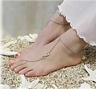 shixin® классический номер 8 формы сплава босиком сандалии (золотой, серебряный, бронзовый) (1 шт)