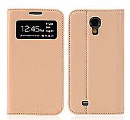Искусственная кожа Защитите чехол с подставкой для Samsung S4/9500