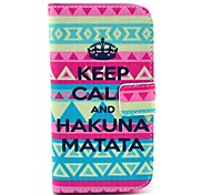 Tribal Carpet Hakuna Matata Pattern PU Leather Full Body Case with Stand for HTC Desire 500
