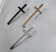 European and American Vintage Jewelry lovers Cross Stud Earrings (3 Colors)