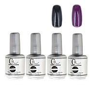 4PCS CH Silver Bottle Soak-off UV Gel Set Top Coat+Base Gel+2 UV Color Builder Gel(No.93-94,15ml)