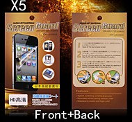 Protective HD Front + Back Screen Protector for Sony L36H (5PCS)