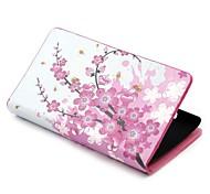 Plum Blossom PU de la carpeta de cuero con el soporte de la cubierta del caso de cuerpo completo para Nokia Lumia 520