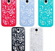 Elonbo Hollow Out A Rose Design Style Hard Back Case Cover for Samsung Galaxy S4 I9500(Assorted Colors)