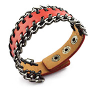 Punk Style Metal Leather Bangle 4 Color